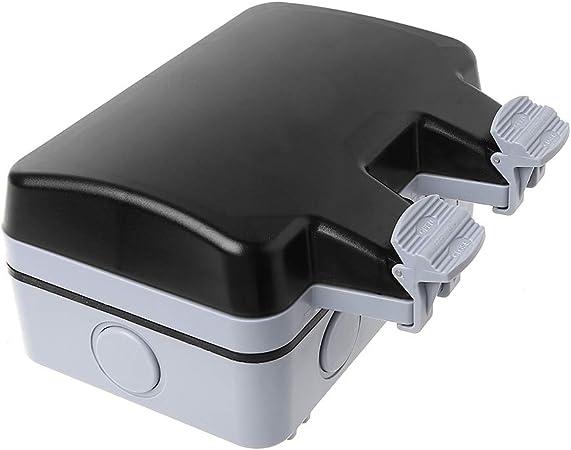 BIlinli Interruptor de Pared Exterior Toma de Corriente IP66 Resistente a la Intemperie y al Polvo Est/ándar de la UE