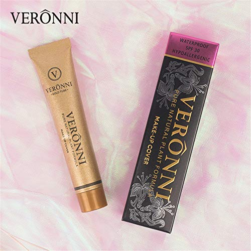 (VERONNI Full Coverage Maekup Cover Concealer Tattoo Cover Up Waterproof Foundation Amazing Scar Make Up Concealer SPF 30 1.1OZ/30g (209))