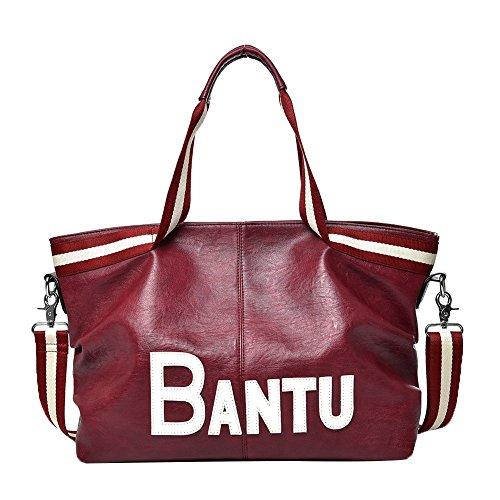 Genda 2Archer Stilvolle Frauen Casual Handtasche Schulter Messenger Rot