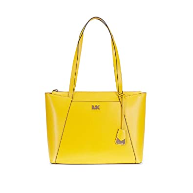492cb7c47 Amazon.com: Michael Kors Maddie Medium Leather Tote- Sunflower: Shoes