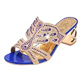 Best Dress Women Products - GBSELL Women's Lady Summer Rhinestone Wedge Slippers Heeled Review