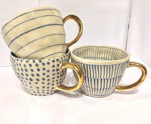 Dastakaari Studio Set of 3 Premium Quality Ceramic Tea Coffee Mugs Kitchen Accessories Cups For Beverages