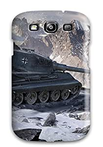 Hot 1886833K89093886 High-quality Durability Case For Galaxy S3(world Of Tanks King Tiger)
