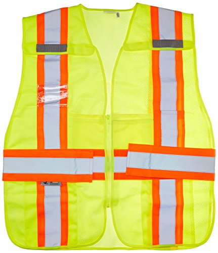 Two Vest Safety Tone Expandable - Radians SV24-2ZGM-3X/5X Polyester Mesh Class-2 Breakaway Expandable Two Tone Vest