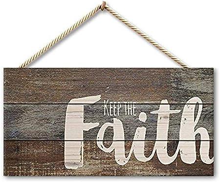 Tarfy Keep The Faith Placa de Madera para Colgar en la Pared, decoración para casa, Bar, café, té, Barbacoa: Amazon.es: Hogar