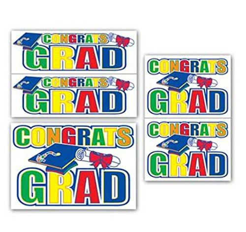 - Graduation Congrats Grad Auto-Clings Party Accessory (1 count) (5/Pkg) Pkg/6
