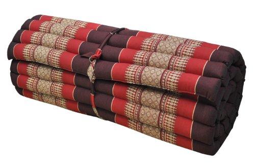 Thai mattress big size (75/180), burgundy/red, relaxation, beach cushion, pool, meditation, yoga (82314) by Wilai GmbH