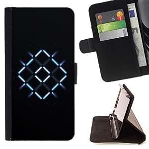 BullDog Case - FOR/Samsung Galaxy S4 IV I9500 / - / Neon X Cross /- Monedero de cuero de la PU Llevar cubierta de la caja con el ID Credit Card Slots Flip funda de cuer