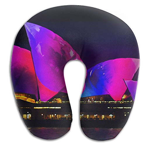 Laurel Neck Pillow Sydney Theatre Vivid Travel U-Shaped Pillow Soft Memory Neck Support for Train Airplane Sleeping ()