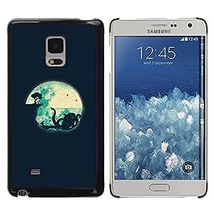TopCaseStore / la caja del caucho duro de la cubierta de protección de la piel - Kraken Minimalist Navy Blue Night - Samsung Galaxy Mega 5.8 9150 9152