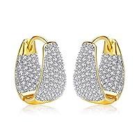 Minions Boutique Hoop Earrings for Women Crystal 18K Gold Plated Pierced Ears Wedding Ear Jewelry for Female