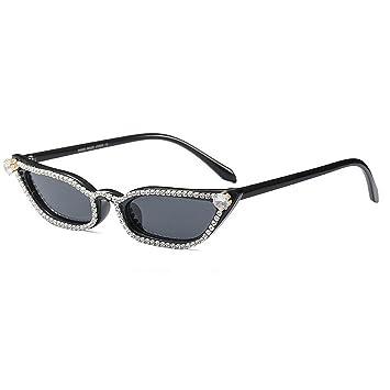 WULE-Sunglasses Unisex Gafas de Sol para Mujer Marco pequeño ...