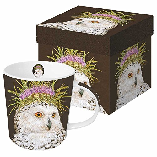 (Paperproducts Design Featuring The Art of Vicki Sawyer Snow Queen Gift Boxed New Bone China Mug, Multicolor, 13.5)