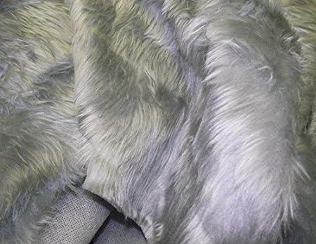 Plain Fun Faux Fur Fabric Material SILVER GREY  Amazon.co.uk ... 8c687d47a