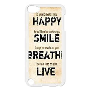 Ipod Touch 5 2D Personalized Hard Back Durable Phone Case with live laugh love Image
