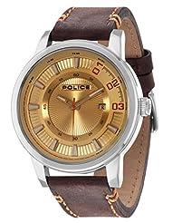 Police Sunset Men's Wrist Watch, Gold