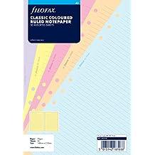 Filofax A5 Classic Coloured Ruled Notepaper