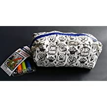 Color Me In Monster Doodle Zipper Pencil Pouch with Mini Markers