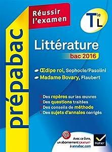 """Afficher """"Littérature terminale L bac 2016"""""""
