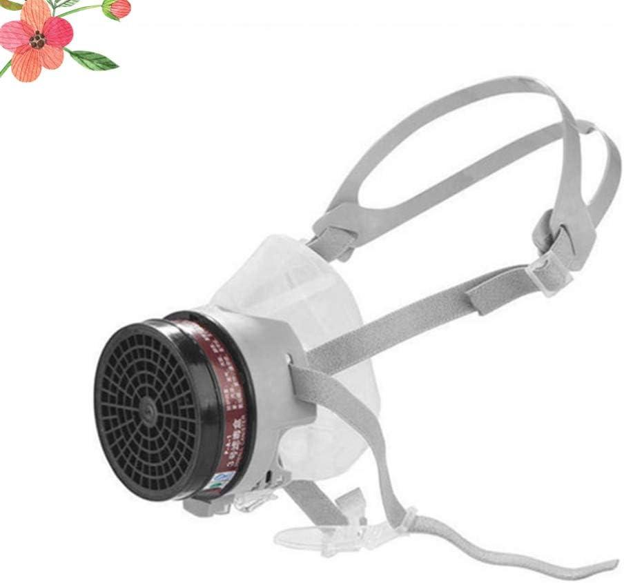EXCEART 1Pcs Máscara de Gas de Media Cara Máscara Antihumedad Media Máscara de Silicona Máscara Antipolvo de Silicona Máscara de Polvo Químico para Dama Hombres: Amazon.es: Deportes y aire libre