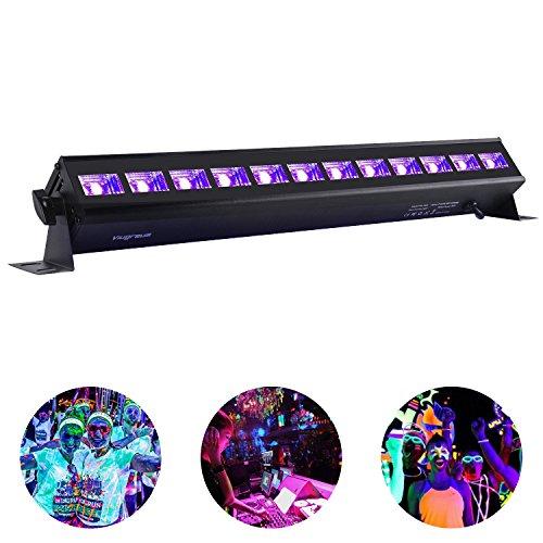 Black Light,Viugreum 12X3W 36W UV Light Bar for Neon Glow Parties Fluorescent Tapestry Poster Paint Lighting DJ Stage - Metalic (Halloween Broken Nails)
