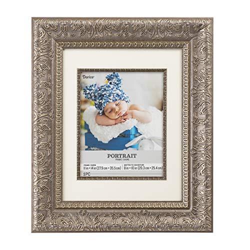 Darice Silver Frames - Darice Floral Portrait Frame with Fillet: Silver, 11