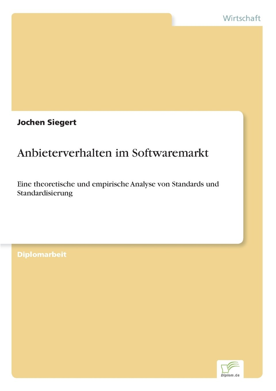 Download Anbieterverhalten im Softwaremarkt (German Edition) pdf