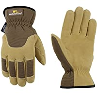 Wells Lamont 1092L Premium Suede Deerskin Work Glove, Brown/Tan