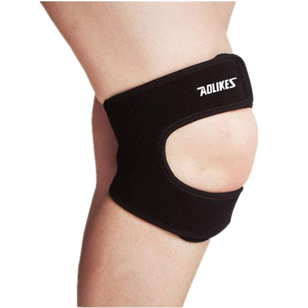 056411695e Mcolics Adjustable Patella Knee Strap Neoprene Infrapatellar Strap Band  Brace for Knee Support Fits Running, Basketball, Tennis, Outdoor Sports, Knee  Pain ...