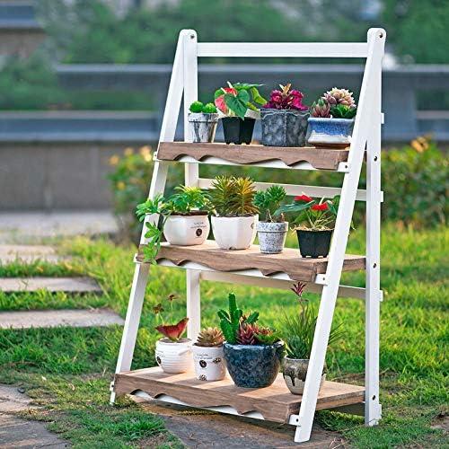 YAHAO Escalera para Macetas Exterior Plantas Soporte Decorativo para Jardín con 3 Niveles Escalera Madera para Plantas Exterior Interior Jardín,White-50cm: Amazon.es: Hogar