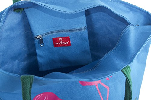 NAJ fermeture VV299 mer épaule porté zip bleu OLEARI Sac plage femme rrFSqa