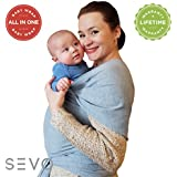 Soft Baby Wrap Sling Carriers – 100% Natural Cotton...