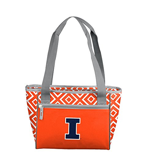 NCAA Illinois 16 Can Cooler Tote, One Size, Multicolor by Logo Brands