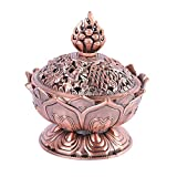 Pretty Alloy Lotus Incense Burner Exquisite Censer Home Office Hotel Decoration Gift Category-A