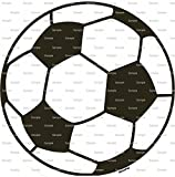 1/2 Sheet - Soccer Ball Birthday - Edible Cake/Cupcake Party Topper!!!