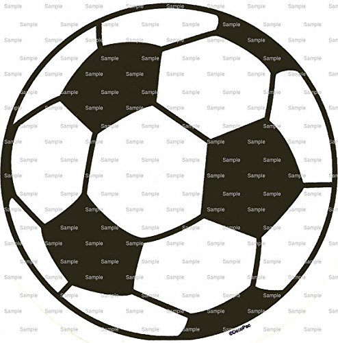 1/2 Sheet - Soccer Ball Birthday - Edible Cake/Cupcake Party Topper!!! by Art of Eric Gunty
