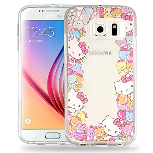 Galaxy S7 Case Hello Kitty Cute Border Clear Jelly Cover