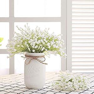 Veryhome Babies Breath Flowers Artificial Fake Gypsophila DIY Floral Bouquets Arrangement Wedding Home Decor 10PCS