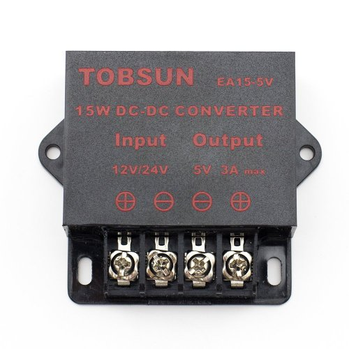 BINZET DC 12V 24V to 5V 3A Converter Step Down Regulator 5V Regulated Power Supplies Transformer Converter