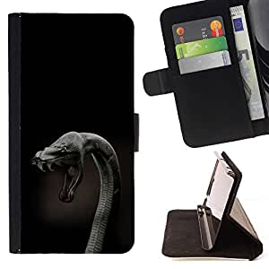 BETTY - FOR Sony Xperia Z3 D6603 - Cobra Snake Close Up - Style PU Leather Case Wallet Flip Stand Flap Closure Cover