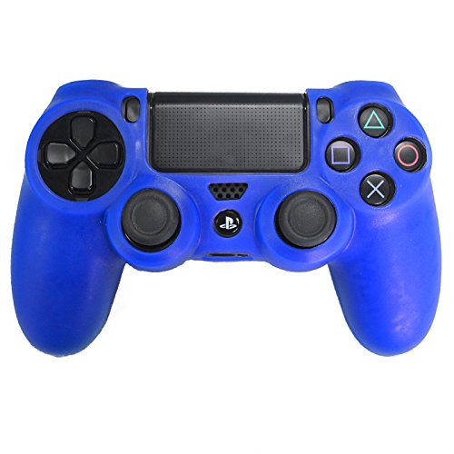HDE PS4 Controller Skin Silicone Rubber Protective Grip for Sony Playstation 4 Wireless Dualshock Game Controllers (Blue) Review