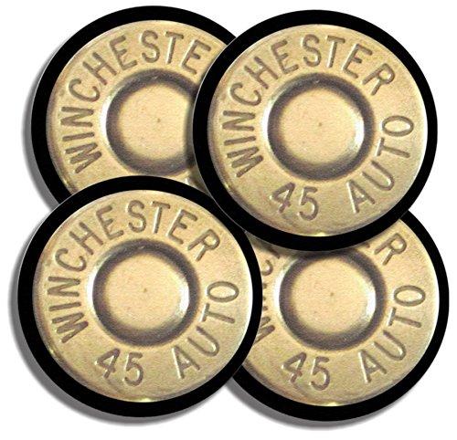 Winchester 45 acp Caliber Bullet Neoprene Coaster Set of 4 Ammo Gun