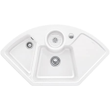 Villeroy & Boch Solo 2.5 Bowl White Ceramic Corner Kitchen Sink ...