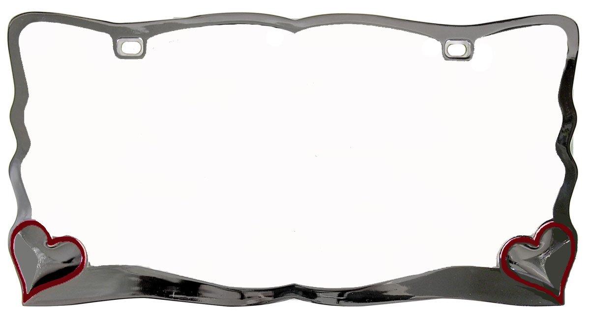 Custom Accessories 92761 Chrome Heart License Plate Frame