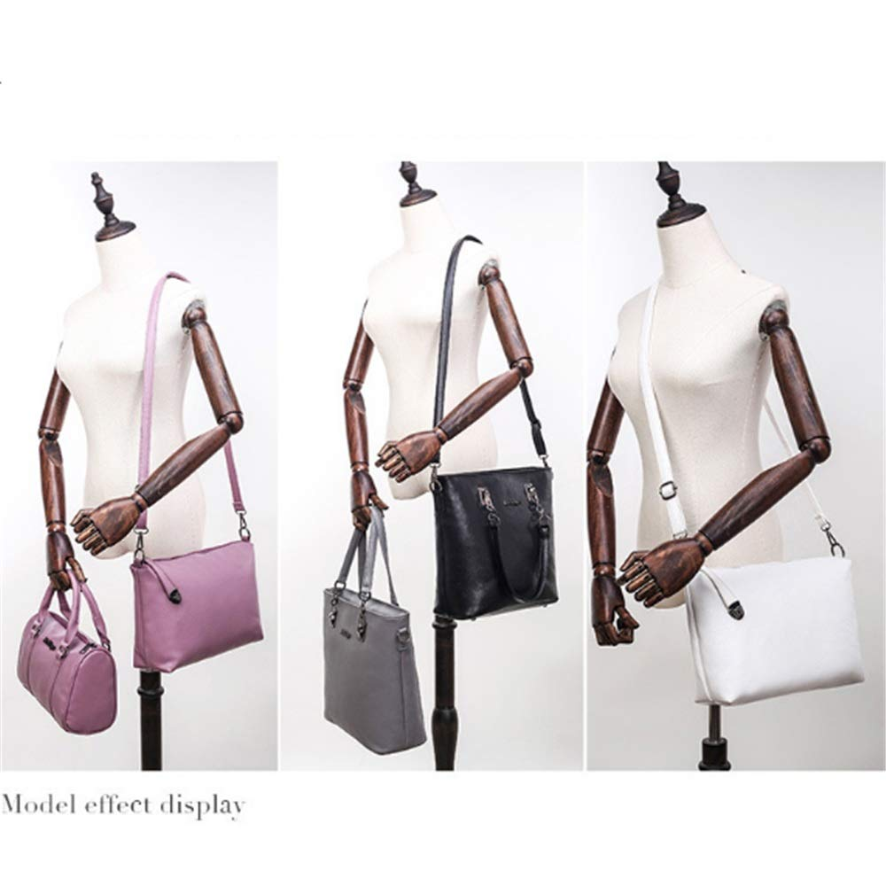 Handväskor för kvinnor tygväska axelväska handväska set damhandväskor läder tygväska axelväska crossbody väskor topphandtag väska 6 st handväska set damväska set (färg: grå) Grått