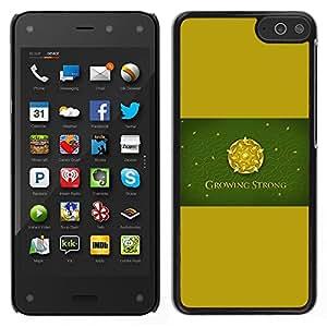 Caucho caso de Shell duro de la cubierta de accesorios de protección BY RAYDREAMMM - Amazon Fire Phone - Crecer Fuerte Rose Sigil