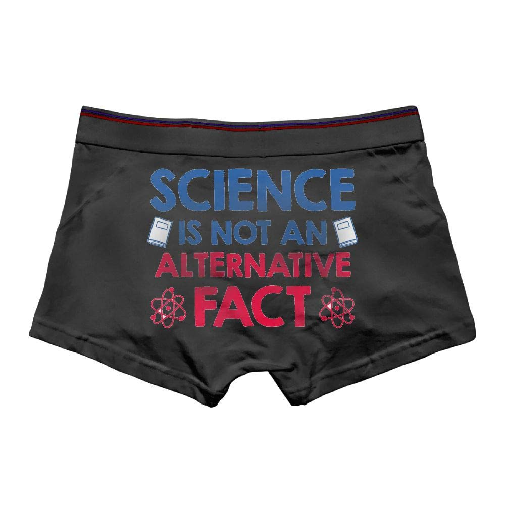 Mens Science is Not an Aternative Fact Underwear Cotton Boxer Briefs Stretch Low Rise Trunks White