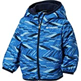 Columbia Kids Baby Boy's Mini Pixel Grabber¿ II Wind Jacket (Infant/Toddler) Super Blue Beach Stripe 18-24 Months