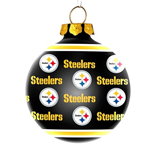 NFL Pittsburgh Steelers Glass Ornament