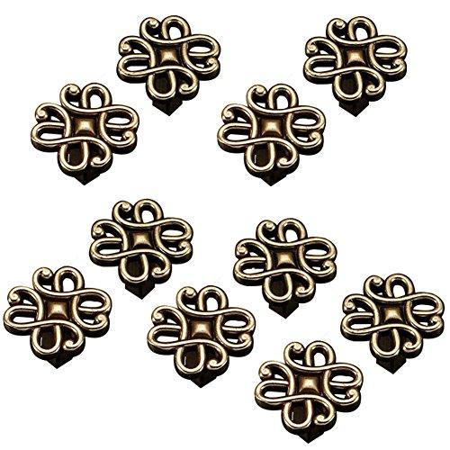 - Welldoit 10 Pcs Flower-Shaped Zinc Alloy Handle Single Hole Handle Knobs (Large)